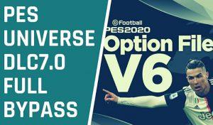 آپشن فایل PESUniverse V6 برای PES 2020 نسخه PS4 و PC