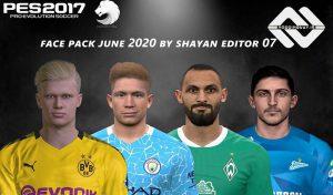 مینی فیس پک June 2020 برای PES 2017 توسط Shayan Editor