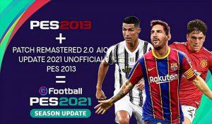دانلود پچ Remastered Patch 2.0 برای PES 2013 فصل 2021