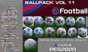 دانلود پک توپ Ball Server Pack V11 برای PES 2020