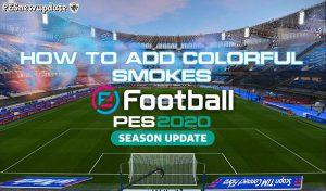 دانلود ماد بمب دود رنگی استادیوم برای PES 2020