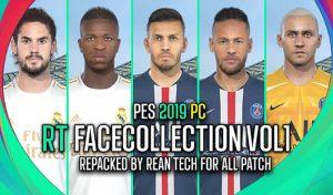 دانلود فیس پک RT Face Collection v1 برای PES 2019