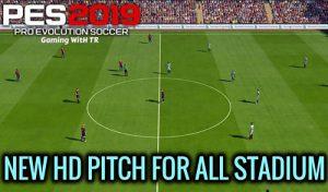 دانلود مود گرافیک New HD Pitch For All Stadium برای PES 2019