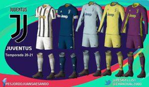 دانلود کیت پک 2021 تیم یوونتوس برای PES 2020