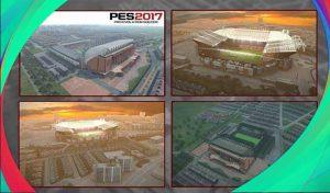 دانلود ماد نمای بیرونی استادیوم آنفیلد و اولدترافورد برای PES 2017
