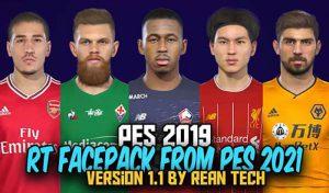 دانلود فیس پک RT Face Collection v1 برای PES 2019 – نسخه جدید v1.1
