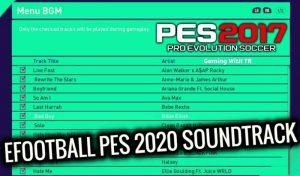 دانلود موزیک منو eFootball PES 2020 برای PES 2017