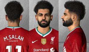 دانلود فیس و مو جدید محمد صلاح 2020 برای PES 2017