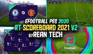 دانلود اسکوربورد جدید PES 2021 برای PES 2020 – نسخه جدید V2