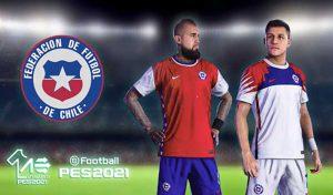 دانلود کیت پک 2021 تیم ملی شیلی برای PES 2020