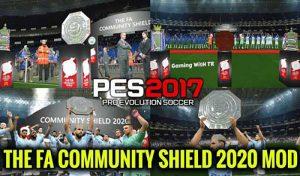 دانلود مود The FA Community Shield برای PES 2017