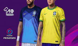 دانلود کیت پک 2021 تیم ملی برزیل برای PES 2020
