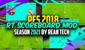 دانلود اسکوربرد PES 2021 برای PES 2018