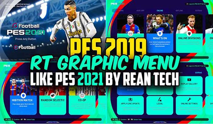 دانلود منو گرافیکی PES 2021