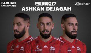 دانلود فیس ASHKAN DEJAGAH برای PES 2017