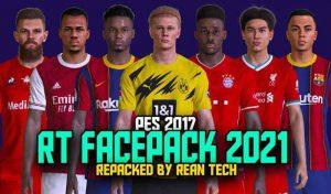 دانلود مگا فیس پک RT Facepack 2021 AIO برای PES 2017