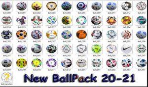 دانلود پک توپ Ballpack Season 2020-21 برای PES 2017