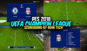 دانلود اسکوربرد لیگ قهرمانان اروپا 2021 برای PES 2018