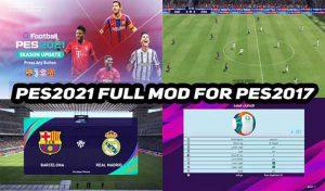 دانلود مود گرافیکی PES 2021 Full Mod برای PES 2017
