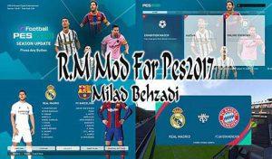 دانلود مود گرافیکی Messi and Ronaldo برای PES 2017