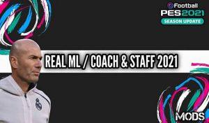 دانلود مود ML Coach and Staff For Real Madrid برای PES 2021