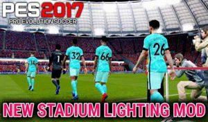 دانلود مود New Stadium Lighting Mod برای PES 2017