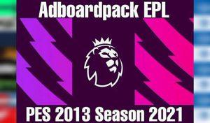 ادبورد پک Premier League V1 برای PES 2013 توسط ARL Board