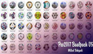 پک توپ V5 فصل 2020/2021 برای PES 2017 توسط Milad Behzadi