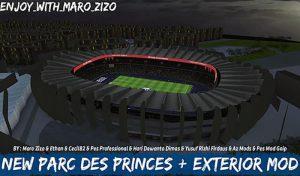 دانلود استادیوم Parc des Princes با نمای بیرونی برای PES 2017