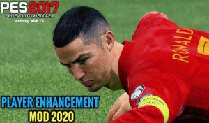 مود Player Enhancement 2020 برای PES 2017