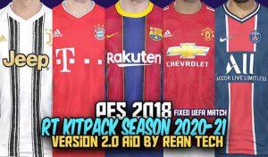 دانلود کیت پک RT Kitpack 2021 AIO v2.0 برای PES 2018