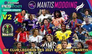 آپشن فایل MyClub Legends V2 برای PES 2021 – بازیکنان لجند آفلاین
