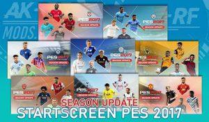 دانلود پک استارت اسکرین فصل 2021 برای PES 2017