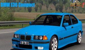 ماشین BMW E36 COMPACT + INTERIOR V1.5 برای یورو تراک 2