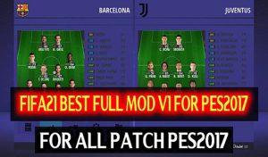 منو گرافیکی FIFA 21 برای PES 2017 توسط DzPlayZ