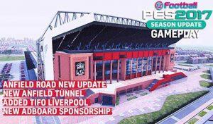 دانلود استادیوم Anfield برای PES 2017 + نمای بیرونی