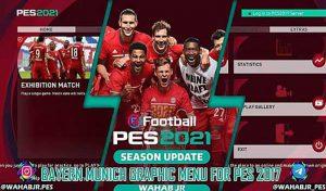 منو گرافیکی Bayern PES 2021برای PES 2017 توسط WAHAB JR