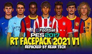 فیس پک Repacked 2021 برای PES 2017 + آپدیت 1