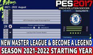 ماد تاریخ شروع مسترلیگ PES 2017 از سال 2021/2022 (مخصوص همه پچ ها !)