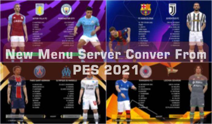 منو سرور تبدیلی PES 2021