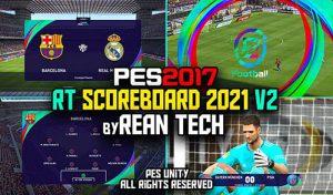 اسکوربرد PES 2021 V2 برای PES 2017 توسط Rean Tech