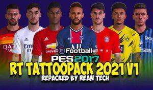 تتو پک Tattoopack 2021 Update v1.0 برای PES 2017 – ریپک شده