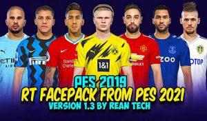 فیس پک PES 2021 v1.3 برای PES 2019 توسط Rean tech