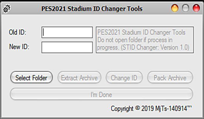 ابزار ادیت Stadium ID Changer