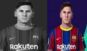 فیس Lionel Messi 2015برای PES 2021 توسط Lucas