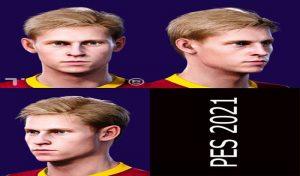 فیس Frenkie de Jong برای PES 2021 توسط Tom