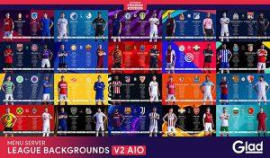 منو گرافیکی League and Cups Backgrounds V2 برای PES 2021