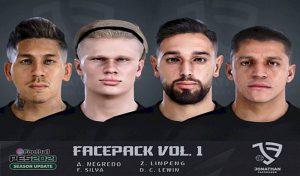 فیس پک جدید Vol.1 برای PES 2021 توسط Jonathan facemaker