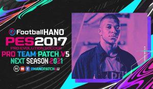 دانلود پچ PRO Team Patch V5 برای PES 2017 فصل 2021
