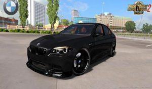 ماشین BMW M5 F10 + INTERIOR V1.5 برای یورو تراک 2